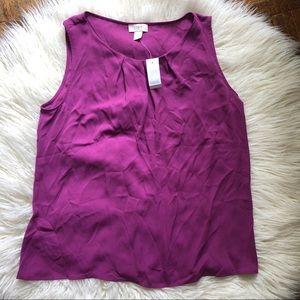 NWT Loft Purple Sleeveless Blouse